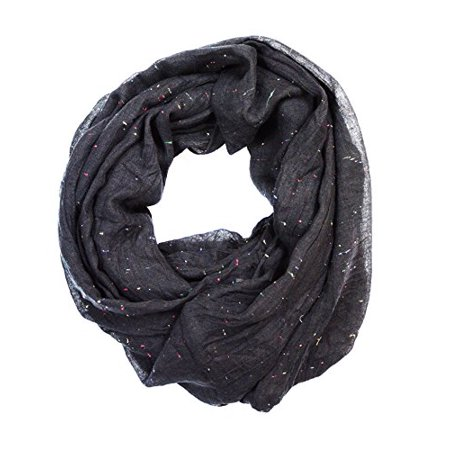Sassy Scarves Women's Solid Color Knitted Loop Infinity Scarf (Black) ()