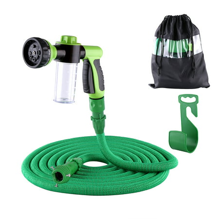 100ft Garden Hose, All New Expandable Water Hose with 8-Pattern Sprayer Nozzle,Double Latex Core, 3/4