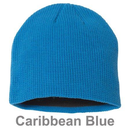 6e2977b04d1 Couver - Slouchy Unisex Waffle Knit Winter Ski Thick & Warm Beanie Hat -  Caribbean Blue - Walmart.com