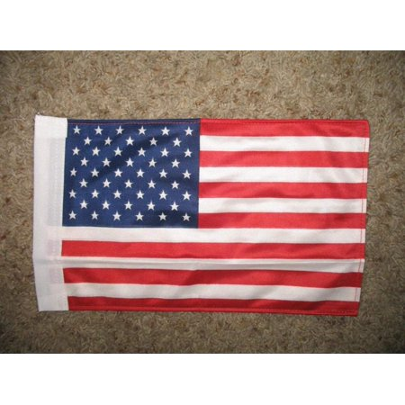 8x12 US USA American 2 Ply Boat Flag Knitted Nylon Boat Flag With Sleeve 8