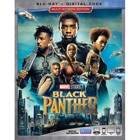 Black Panther (Blu-ray + Digital Code) (Halloween Movies Coupon Code)