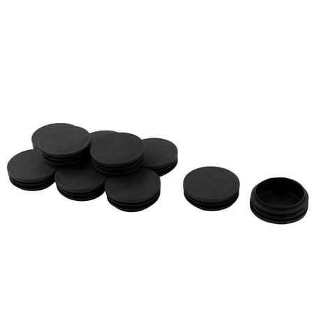 Unique Bargains 10 x Black Plastic Blanking End Cap Caps 2