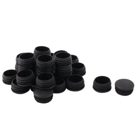 Insérez Tube Rond Plastique Bouchons protecteurs Bouchons Fin Noir 37mm Diamètre 30 PCS - image 1 de 1