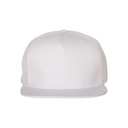 Mega Cap Headwear Flat Bill Five-Panel Trucker Cap 6997C
