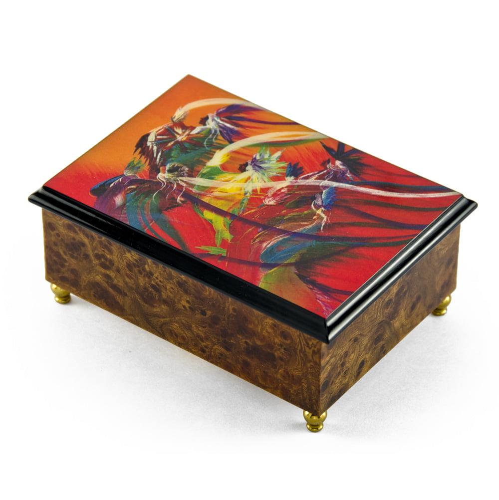 "Artistic 18 Note ""Rainbow Dance"" Italian Musical Jewelry Box - Moldau, The"