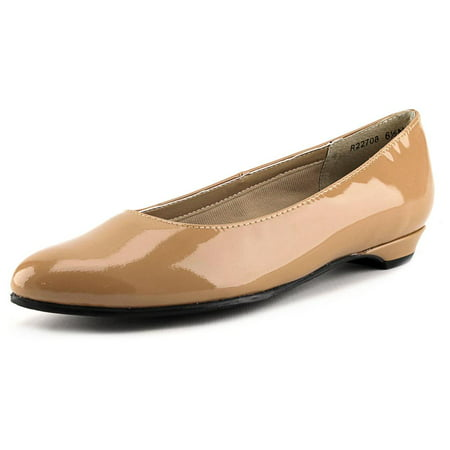 Rose Petals by Walking Cradles Butter 2 Women Round Toe Patent Leather Tan Flats