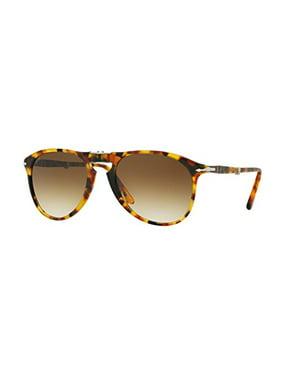 7514999cc4 Product Image Persol Gradient PO9714S-105251-55 Brown Aviator Sunglasses
