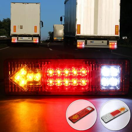 24V 19 LED Indicator Rear Tail Light Reversing Backup Turn Signal Indicator Running Stop Brake Lamp Fit UTE Boat Car RV Trailer Truck Caravan