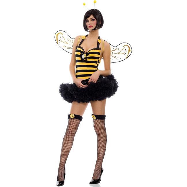 Music Legs 70212-ML 3 Piece Cute Halter Bumble Bee Dress Costume, Medium & Large - image 1 de 1