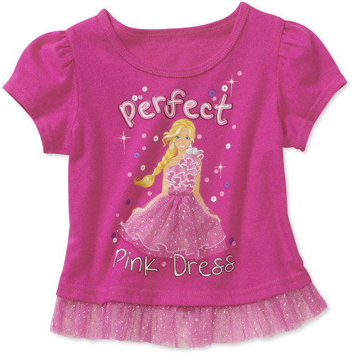 Baby Girls' Barbie Graphic Tulle Tee