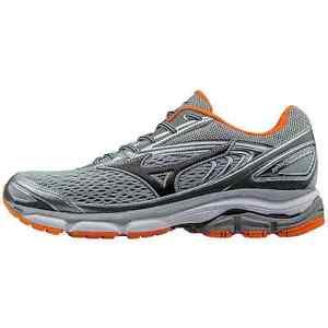 Mizuno Mens Wave Inspire 13 Running Shoes Grey/Clownfish Size 7