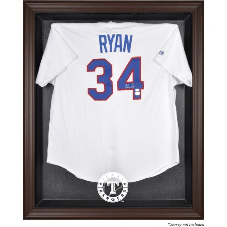 Texas Rangers Fanatics Authentic Brown Framed Logo Jersey Display Case - No Size