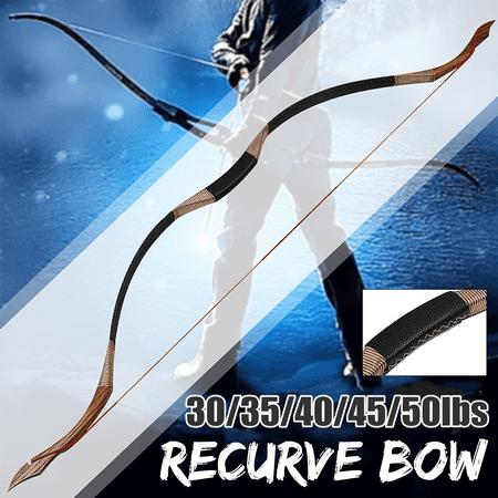 30-45lb Traditional Archery Hunting Handmade Recurve Bow Mongolian Horse Longbow thumbnail