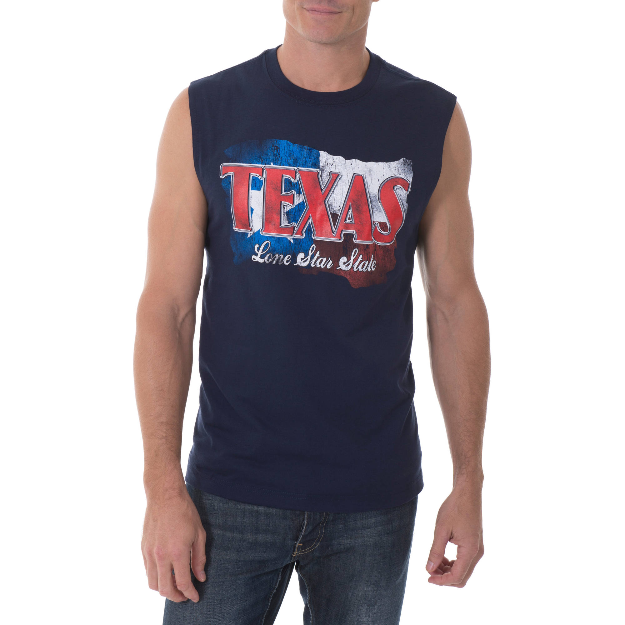 Faded Glory Men's Texas Lone Star State Graphic Muscle Tee
