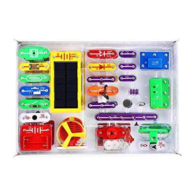 Yks Electronics Discovery Kit Solar Electronics Block Kit Educational Science Kit Toy Great Christmas Gift For Children Learning Education Science