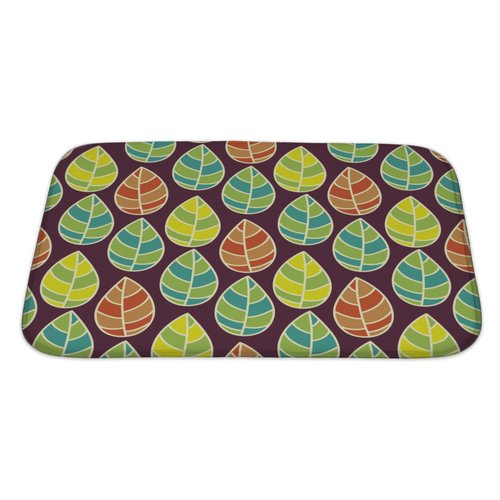 Gear New Leaves Beautiful Leaf Pattern Bath Rug