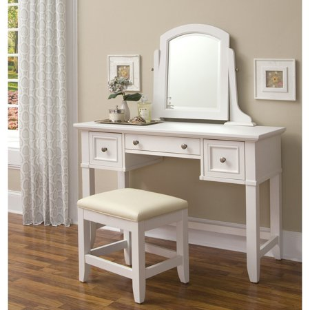 Home Styles Naples Vanity Table and Mirror,
