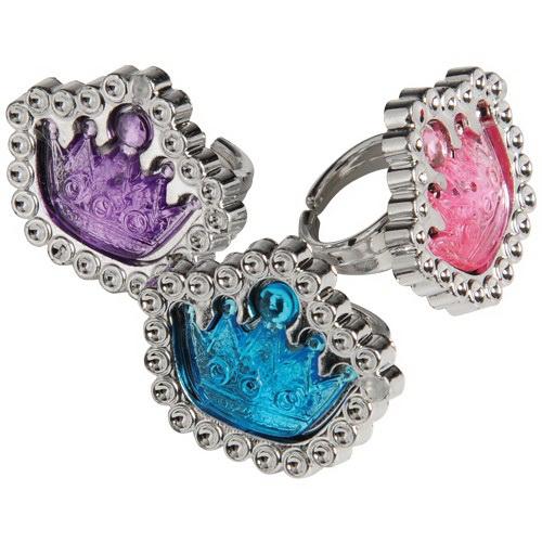 (Price/Dozen)US TOY JA834 Princess Tiara Rings