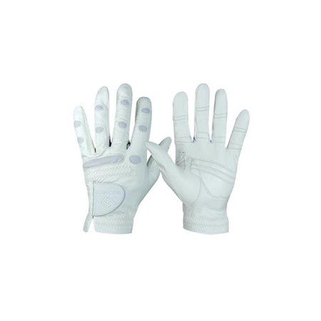 bionic glove esgwmw womens showgrip equestrian - white, medium