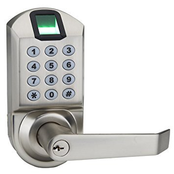 Fingerprint Door Lock - Ardwolf A1 No Drills Needed Keyless Keypad Biometric Fingerprint Door Lock, Unlock with Fingerprint Key Password - Satin Nickel