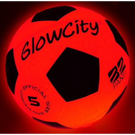 Light Up LED Soccer Ball- Blazing Red