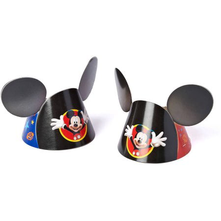 (3 Pack) Mickey Mouse Clubhouse Small Mickey Ears Party Hat, 4.5