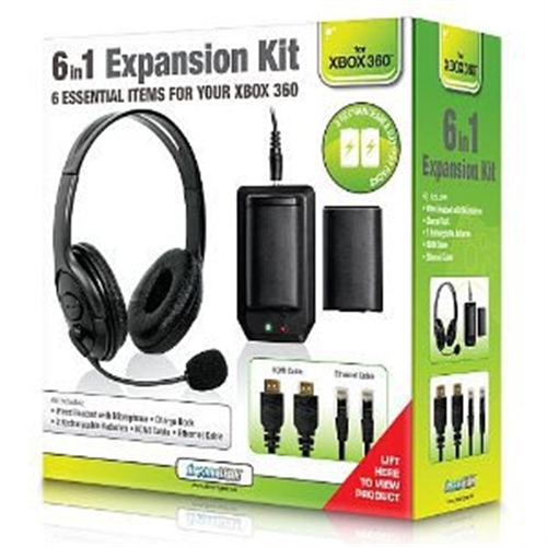 DREAMGEAR DG-DG360-1714 XBOX 360 BUNDLE 6 IN 1 EXPANSION KIT BK
