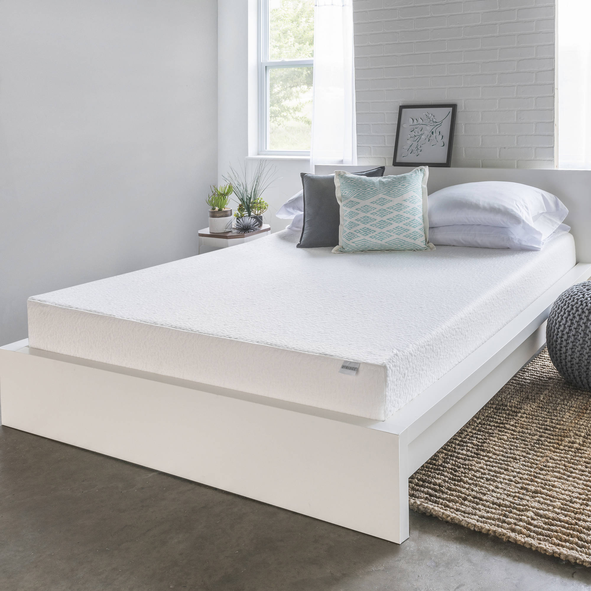 "HoMedics 8"" Memory Foam Mattress, Multiple Sizes"