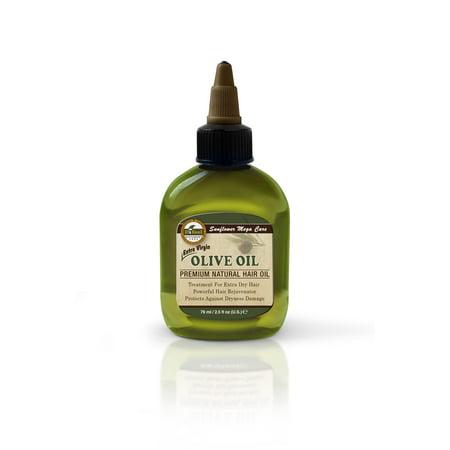 Sunflower Premium Mega Hair Oil, Olive, 2.5 Fl Oz (Using Olive Oil To Get Rid Of Lice)