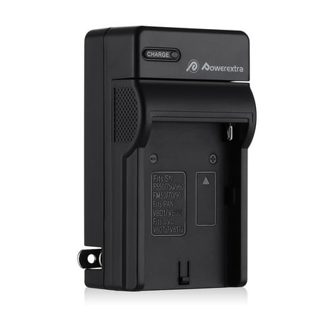 Powerextra Battery Charger For Sony NP-F330, NP-F550, NP-F750, NP-F930, NP-F950, NP-F530 Digital