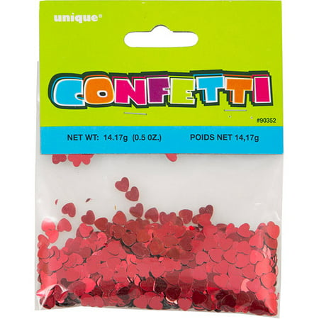 Foil Heart - (2 pack) Red Foil Heart Confetti