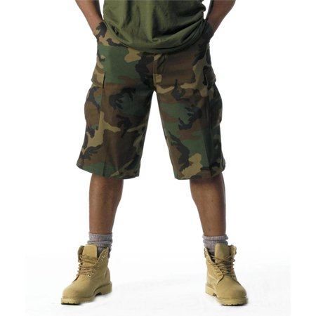 Extra Long Woodland Camo BDU Cargo Short