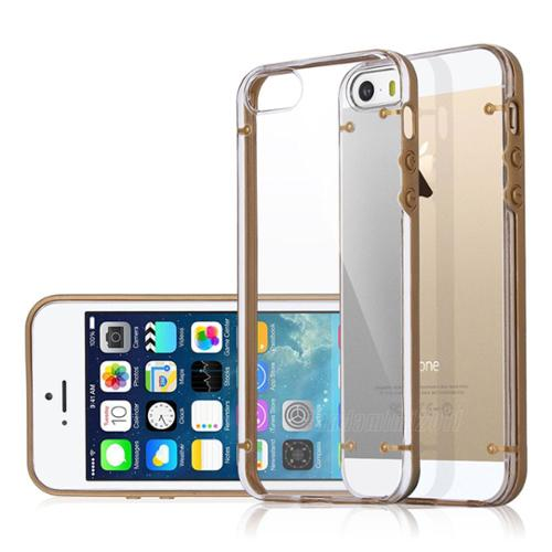 ULAK iPhone 5 5S Case,Clear Hard Cases Cover Skin For Apple iPhone 5S 5 (Gold)