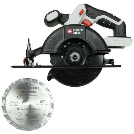 "Porter-Cable PCC661 20V Lithium-Ion 5 1/2"" Circular Saw, Bare Tool Panel Pro Saw"