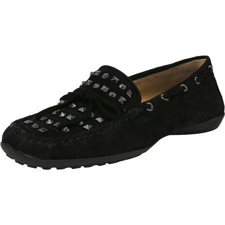 vaneli women's abril suede black flat shoe  6m  walmart