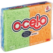ocelo Cel-O Cellulose Sponges, 4 Count (Colors may vary)