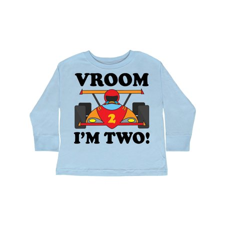 2nd Birthday Racing Car Toddler Long Sleeve T-Shirt - Race Car Birthday