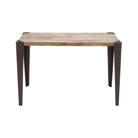 - Decmode Industrial 30 X 42 Inch Distressed Brown Iron and Fir Wood Rectangular Console Table, Brown