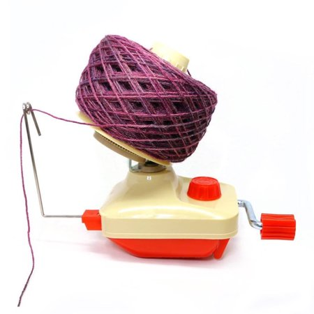 Portable Hand Operated Yarn Ball Winder Manual Wool Winder Holder For Swift Yarn Fiber String Ball Beige