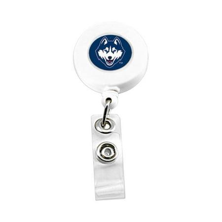 UCONN Huskies Sports Team Logo Retractable Badge Reel Id Ticket Clip -