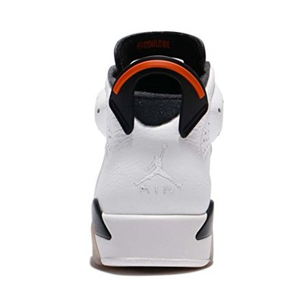 e6ab39beec705c NIKE - 384664-145 Men Air Jordan 6 Retro Jordan Summit White Team  Orange-Black - Walmart.com