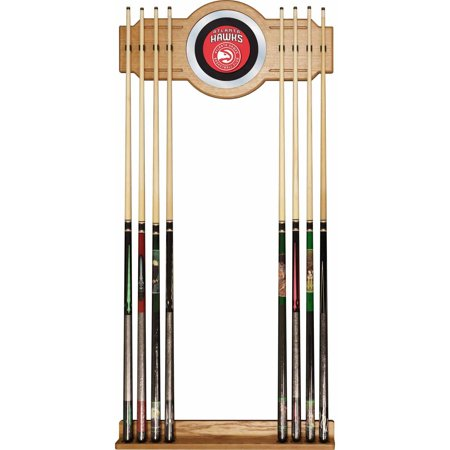 Atlanta Hawks NBA Billiard Cue Rack with Mirror ()