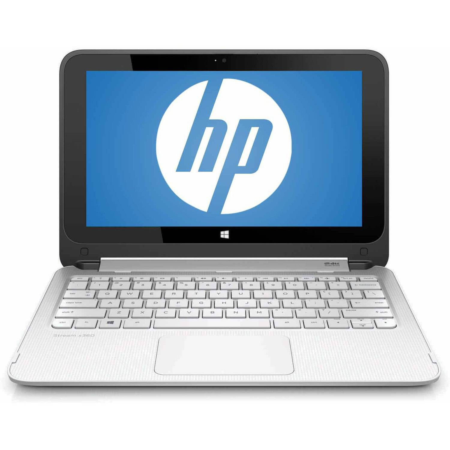 """Refurbished HP Blizzard White 11.6"""" Stream 11-p015wm X360 Laptop PC with Intel Celeron N2840 Dual-Core Processor, 2GB Memory, touch screen, 32GB eMMC and Windows 8.1"""