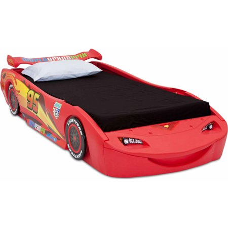 disney cars lightning mcqueen twin bed with lights. Black Bedroom Furniture Sets. Home Design Ideas