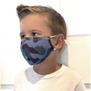 PVTL Kids Face Mask with Filter, Nose Wire, Adjustable Ear Loops - Washable Three Layer Cotton Cloth - Mouth Cover Reusable Facemask