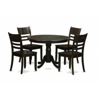 East West Furniture HLLY5-CAP-W 5 Piece Small Kitchen Table and Chairs Set-Dining Table and 4 Dinette Chairs