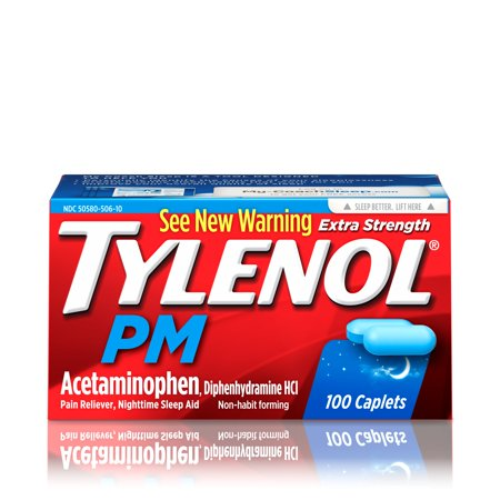 Tylenol pm alcohol