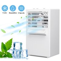 3 in 1 Air Space Conditioner, Mini USB Fan Evaporative Spray Humidifier Purifier , Desk Cooling Fan for Home Office