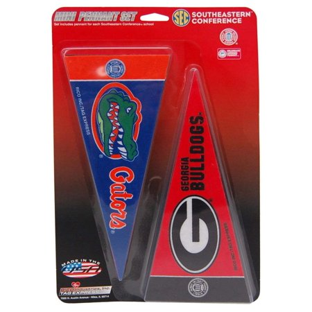 SEC Southeastern Conference Mini Pennant Set NEW Sets in Stock, Each pennant measures 4 x 9 inches By Rico