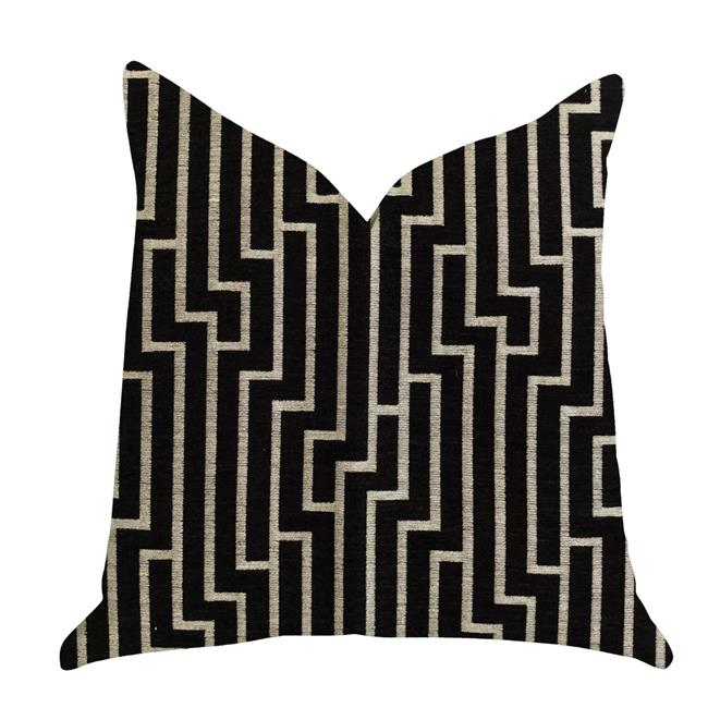 Plutus PBRA1371-2626-DP 26 x 26 in. Posh Lady Luxury Double Sided Throw Pillow - Black & Beige - image 3 of 3